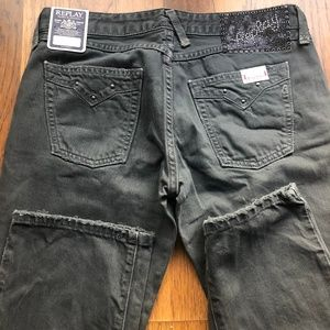NWT Replay Jushman jeans size 28 straight leg